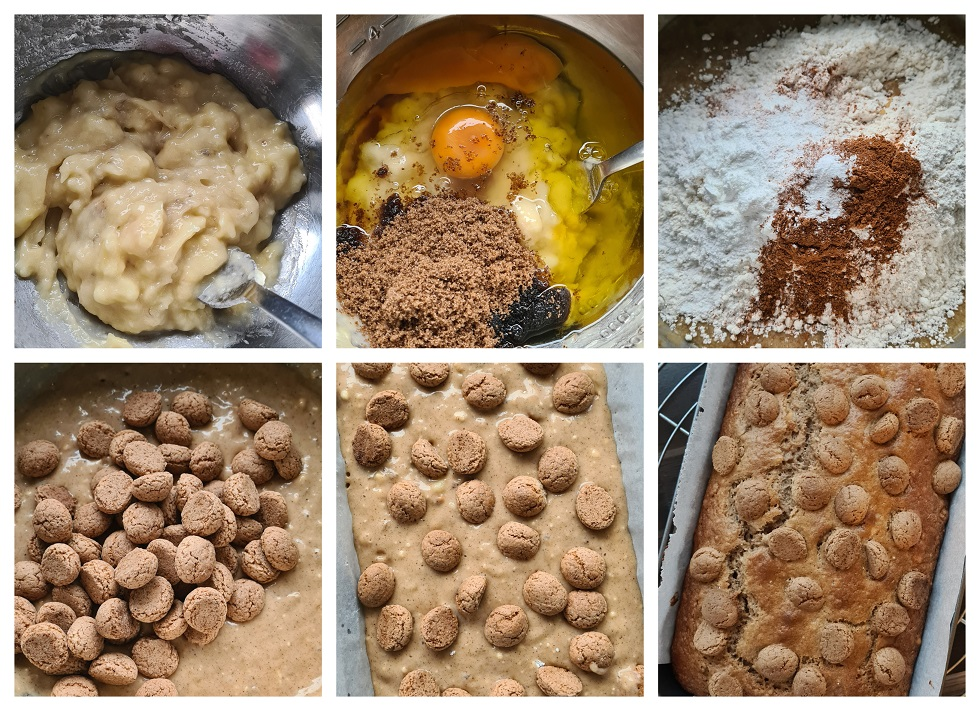 Stappen voor het maken van het kruidnoten-bananenbrood