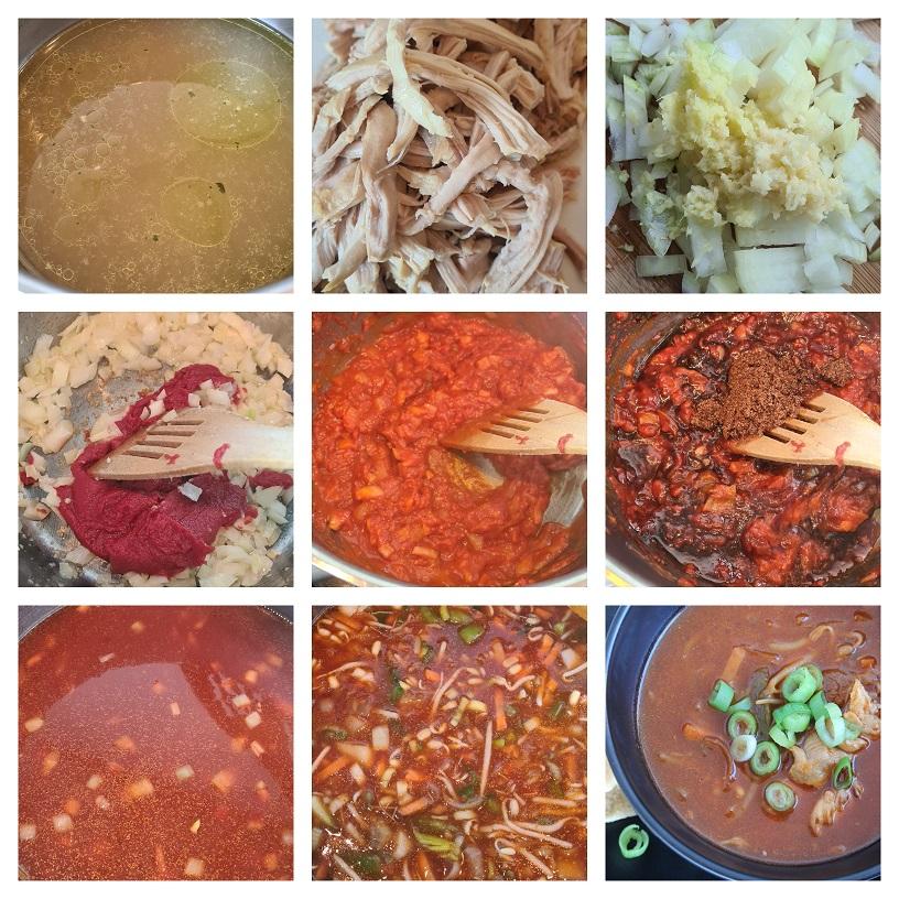 Chinese Tomaten-Groentesoep bereiden