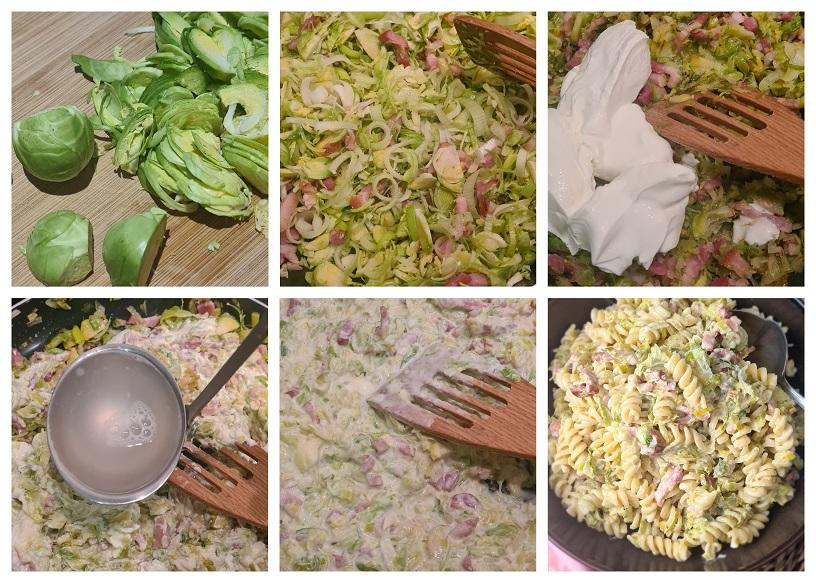 Pasta met spruitjes maken