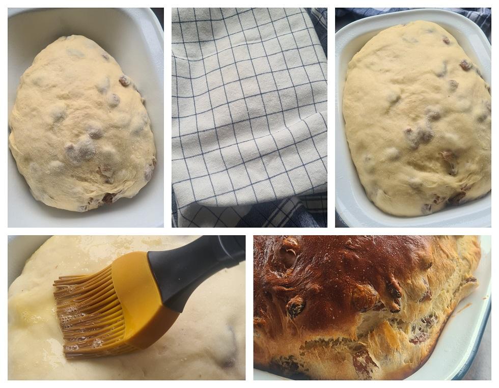 Bananenbrood met gist - laatste rijs en afbakken