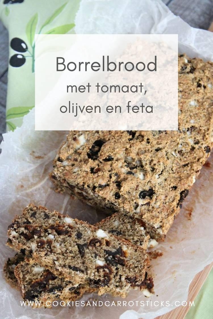 Borrelbrood met tomaat, olijven en feta PIN afbeelding